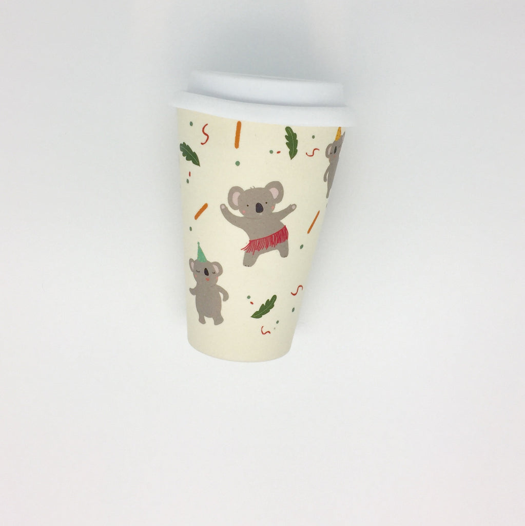 Bamboo Reusable Cup - Koala (Large)