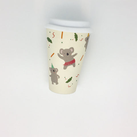 Bamboo Reusable Cup - Koala