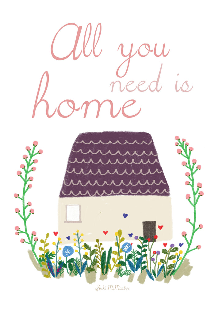 Wall Print - All You Need Is Home