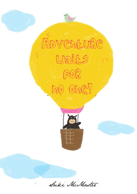 Wall Print - Adventure Waits For No One