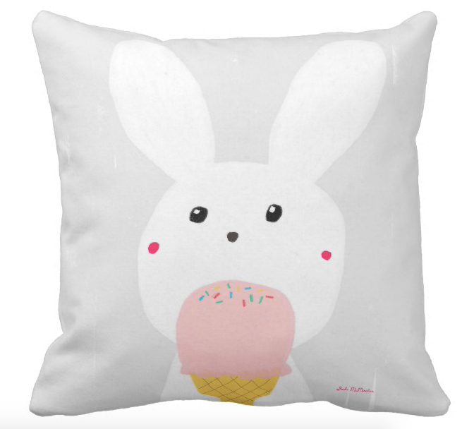Cushion cover - Ice Cream Bunny