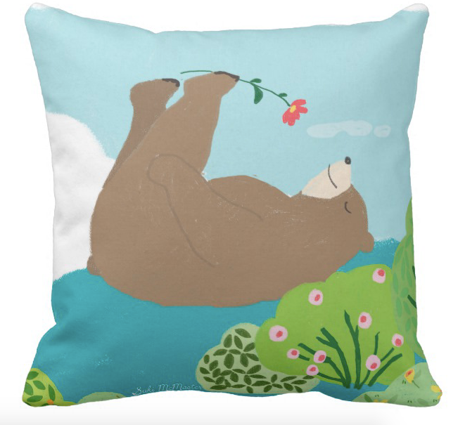 Cushion - Bear On Back