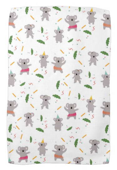 Tea Towel - Dancing koala