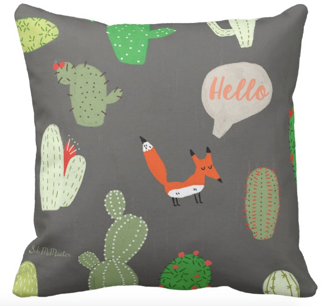Cushion cover - Hello Fox
