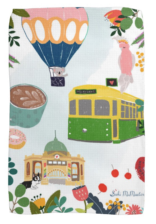 Tea Towel - Melbourne Icons