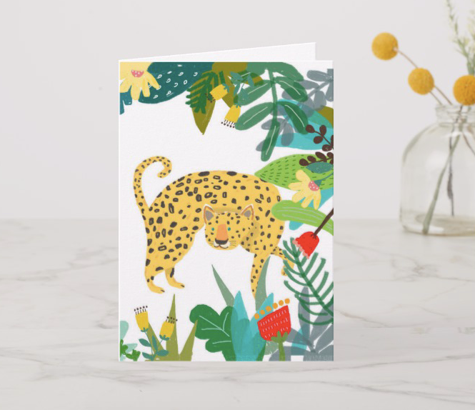 Leopard and Monkey - A5 lined notebook