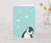 Dreaming Penguin - A5 lined notebook