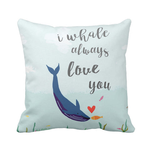 Cushion cover - I whale always love you