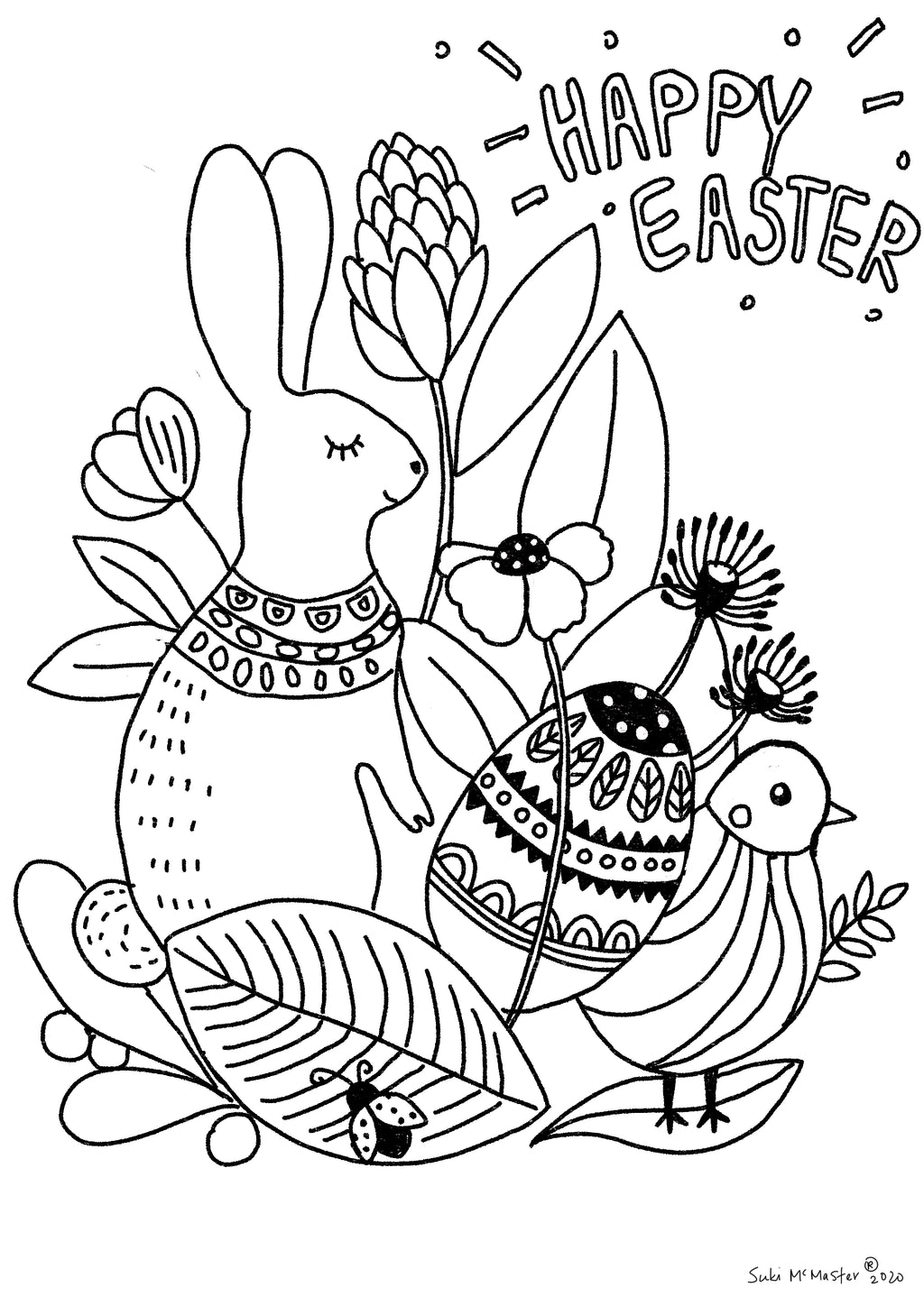Easter Holiday Colouring In - Free Printable