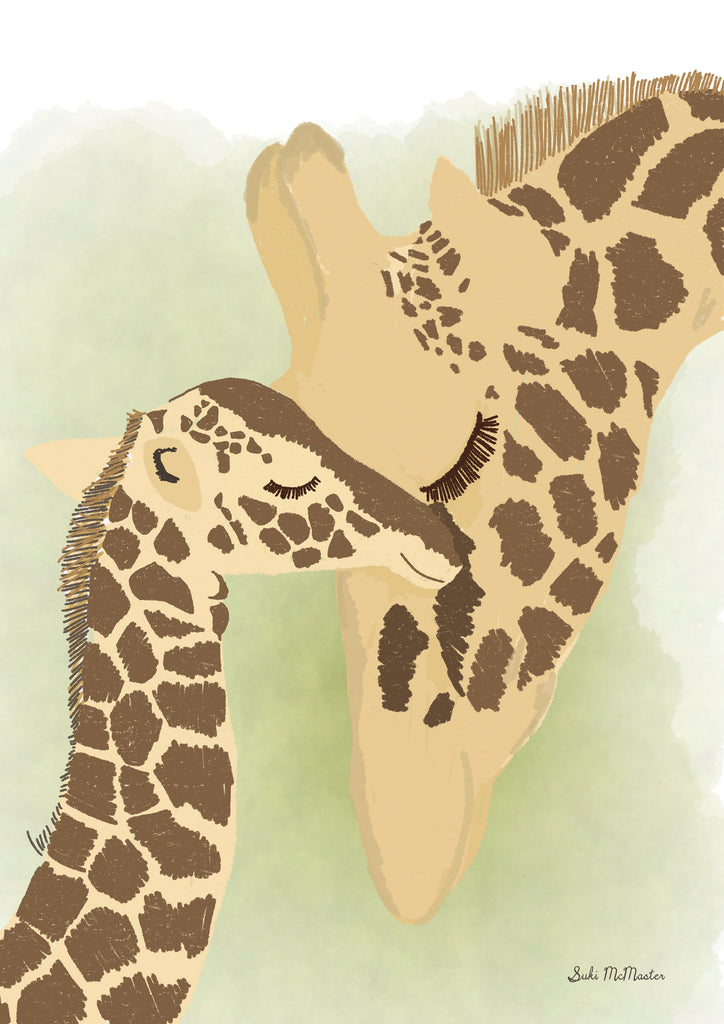 Wall Print - Giraffe - Green