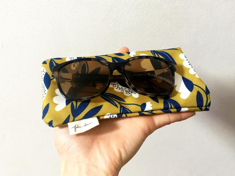 Sunglasses Case | Sunglasses Pouch | Glasses Case | Glasses Pouch | Melbourne Made | Floral Fields Pattern