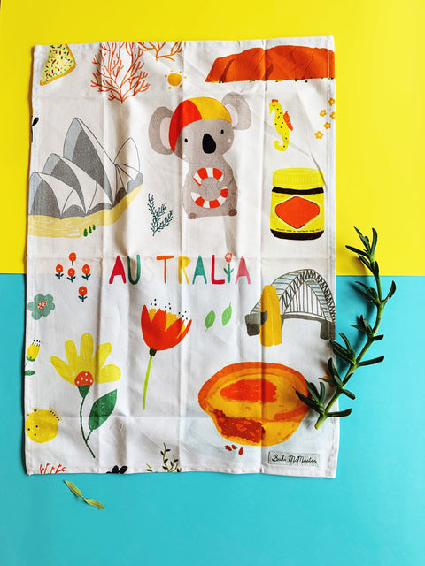 Tea Towel - Sydney Australia (Suki McMaster x Gibson Gifts Collaboration)