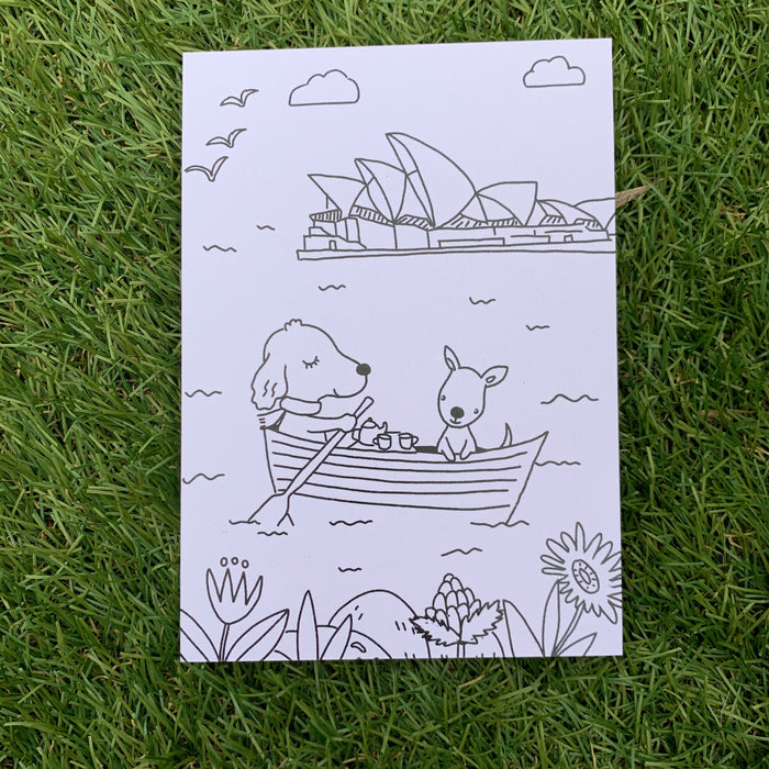 Daisy McCrazy Colouring Postcard Set *Free Postage