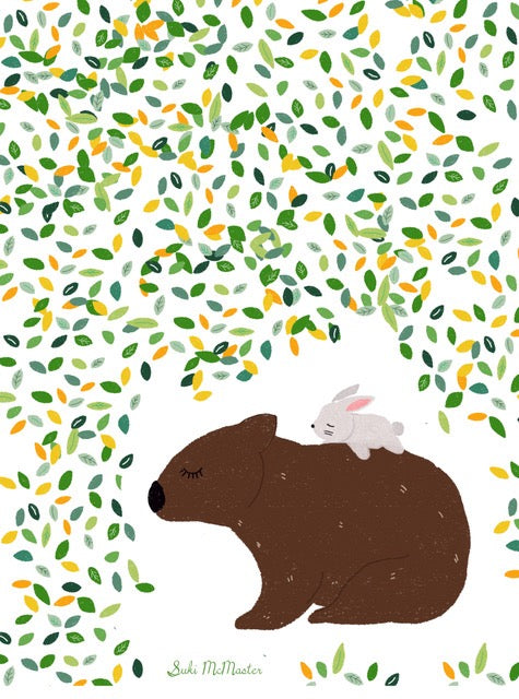 Tea Towel - Wombat