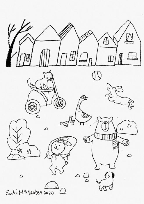 July School Holiday Colouring - Free Printable