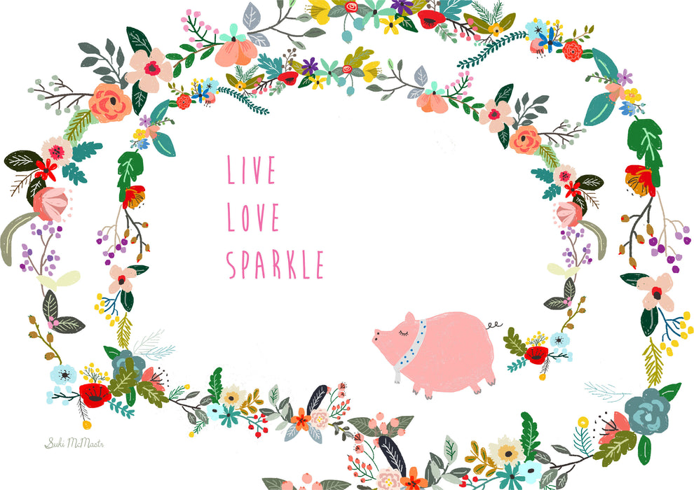 Wall Print - Live Love Sparkle