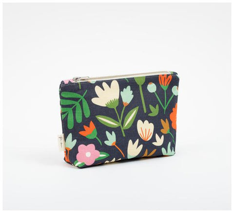 Fabric Drawer - Zip Pouch - Winter Garden