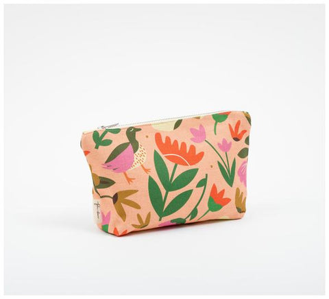 Fabric Drawer - Zip Pouch - Pink Oasis