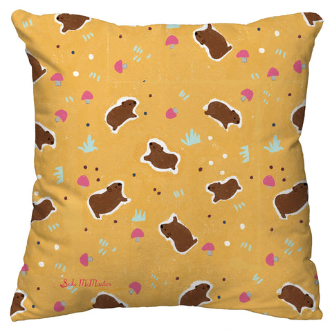 Copy of NEW Cushion Cover -  Happy Wombat