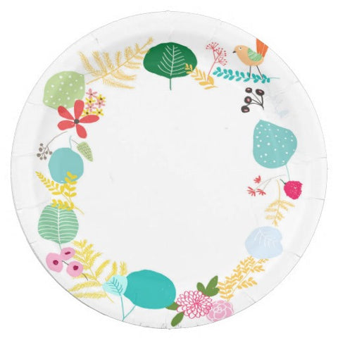 Round Birchwood Tray - Garden (ONLINE EXCUSIVE SALE)