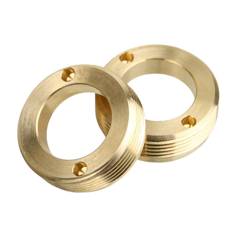 BLUE LUG Brass Crank Cap Set