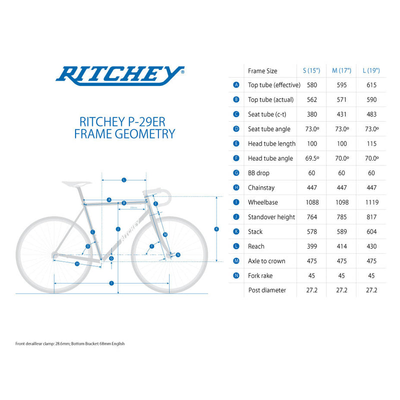 RITCHEY P-29er Mountain Frame