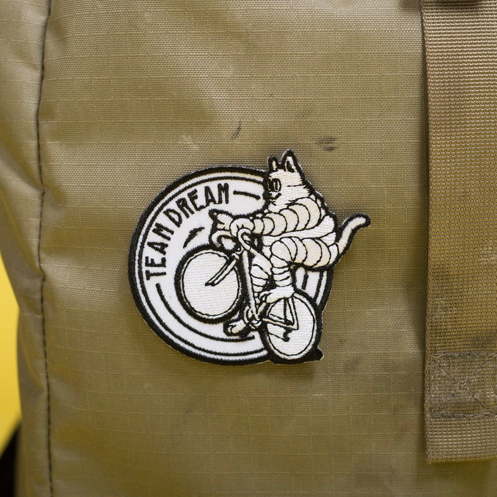TEAM DREAM BICYCLING TEAM Meowchelin Cat Patches