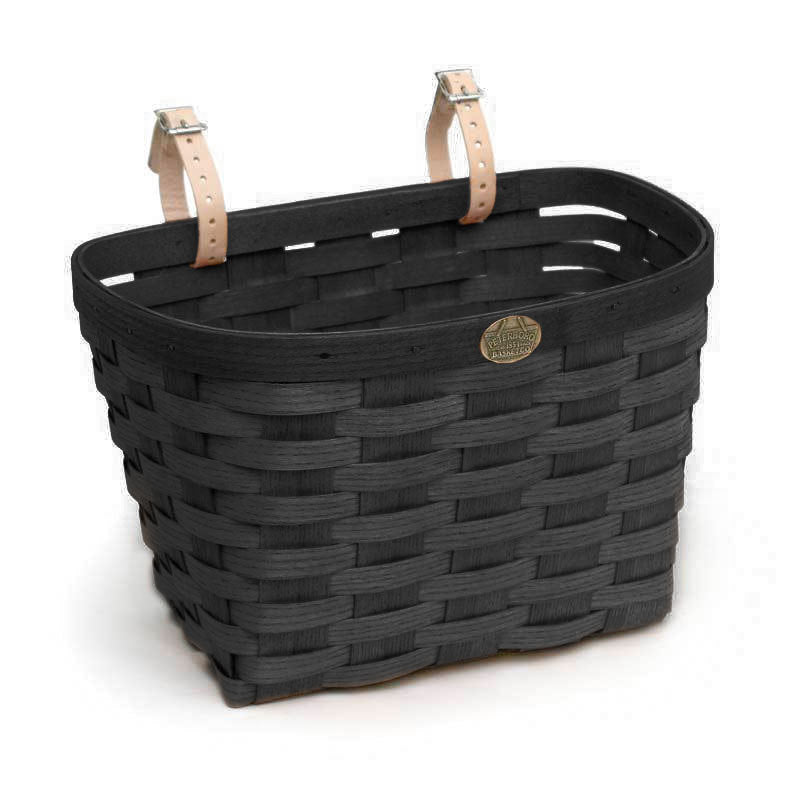 PETERBORO Large Bicycle Basket with Post Piece
