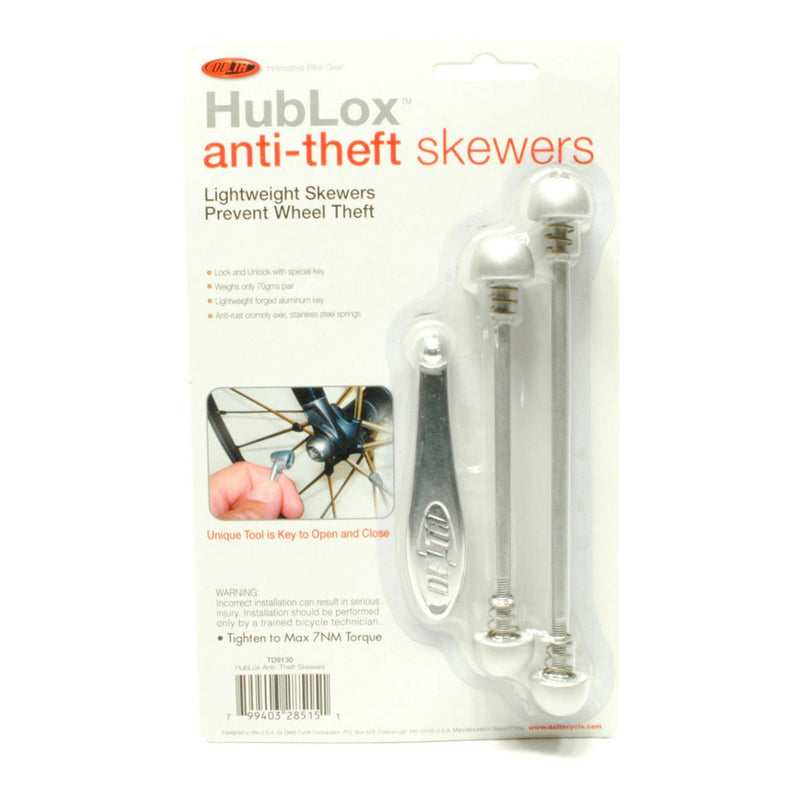 DELTA CYCLE Hublox Anti theft Skewers