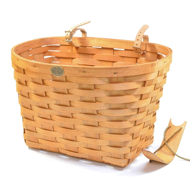 PETERBORO Extra Large Bicycle Basket with Post Piece