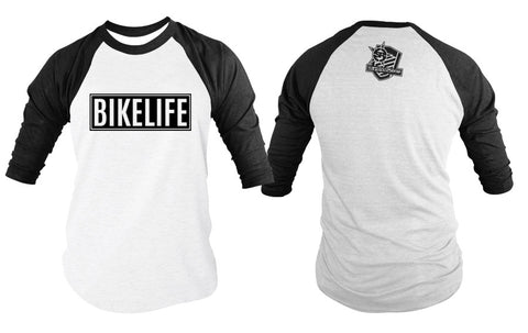BASEBALL TEE - WHEELIES MAKE ME SMILE (BLACK PRINT)