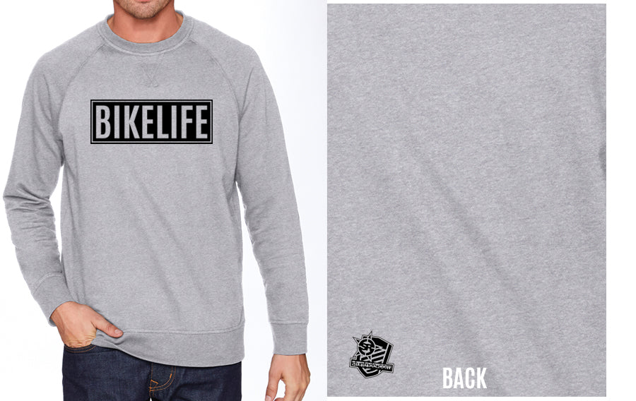 SWEATSHIRT - BIKELIFE (BLACK PRINT)