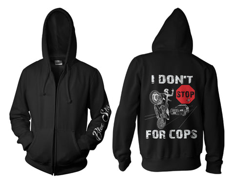 ZIP UP HOODIE - COPS LIE