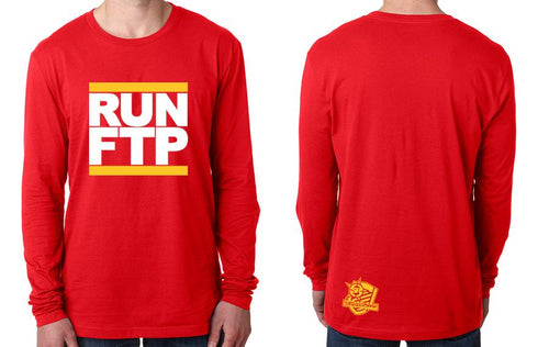 LONGSLEEVE - RUN FTP (GOLD PRINT)