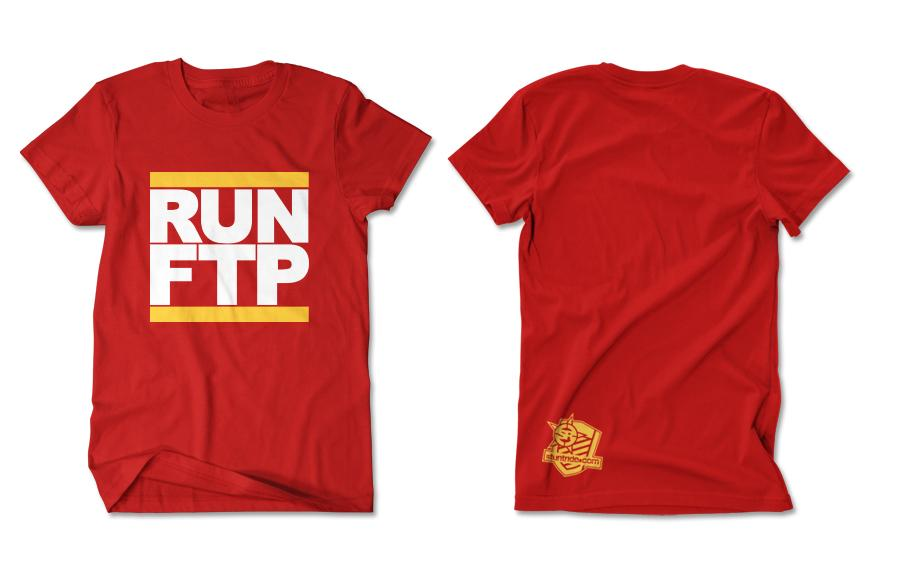 T-SHIRT-RUN FTP (GOLD-PRINT)