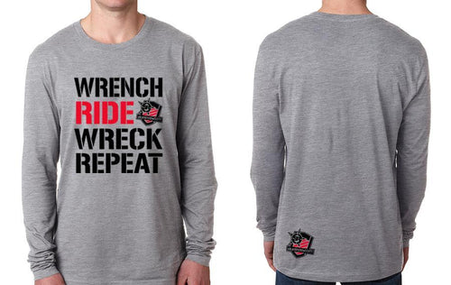 LONGSLEEVE - WRECK WRENCH RIDE REPEAT