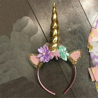 Glittery Head Bands Decorative Hairband Baby Tiara Unicorn Horn Kids Headband Girls Headwear