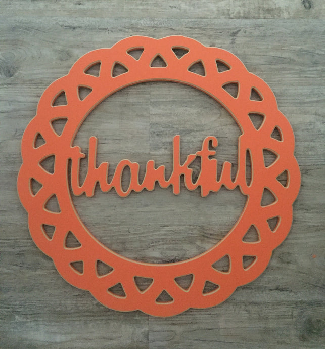 Thankful Decorative Circle