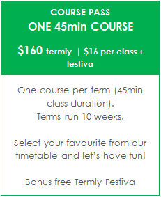 TERM C - KIDS + YOUTH COURSE PASS - One 45min Course | $16 per class + festiva