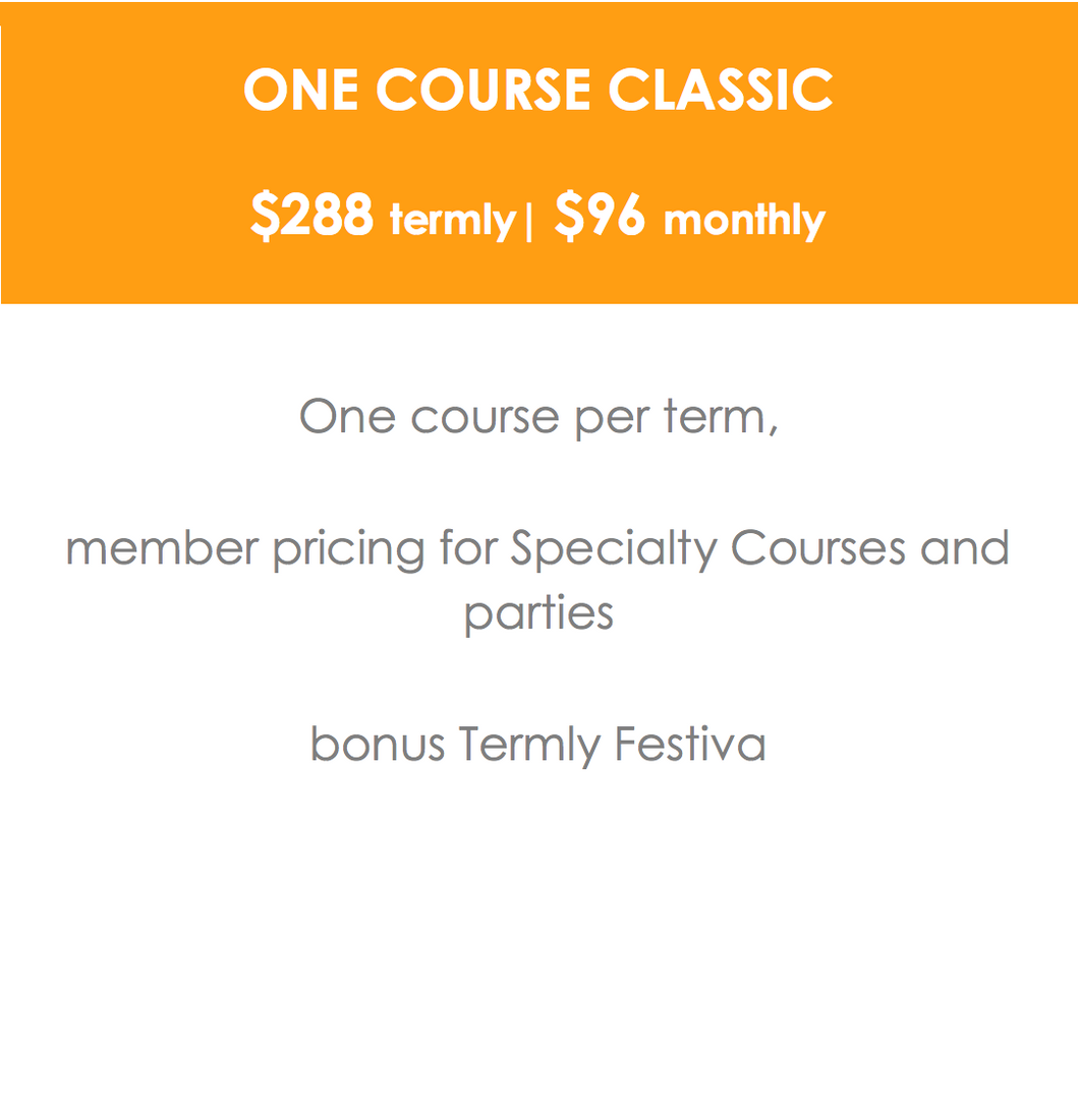 ONE COURSE CLASSIC  - One Full Term Course | $96 monthly