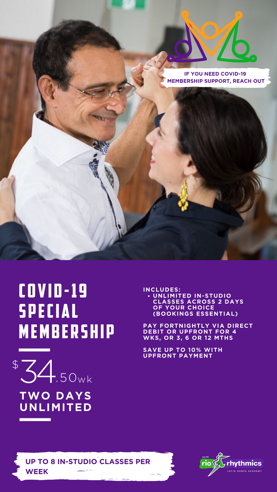 Two Day Membership | $34.50wk