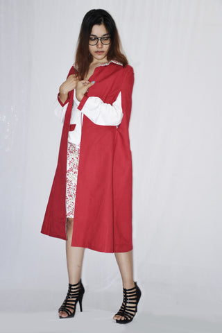 Cape Style Coat with A line dress