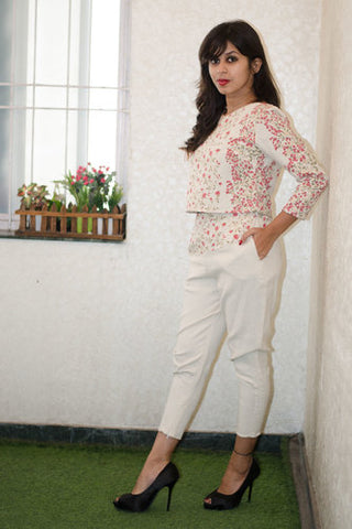 Crop Top with Ankle Length Trouser
