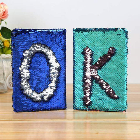 Custom Sequin Notebook