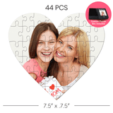 Custom Heart Shaped Jigsaw Puzzle 44 pcs   Custom Box