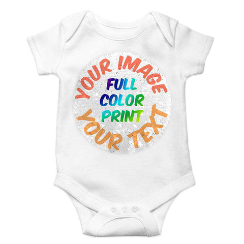 Custom Reversible Sequin Unisex Baby Bodysuit