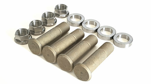Complete car steel press in stud kit 9/16 hex nuts