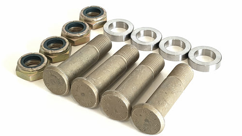 Complete car steel press in stud kit 3/4 hex nuts