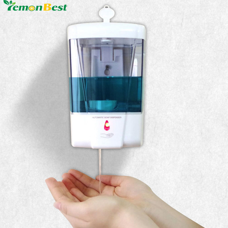 Soap Dispenser Battery Powered 600ml Wall Mount Automatic IR Sensor  Touch Free Kitchen Soap