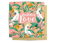 Greeting Card - Cockatoo Love